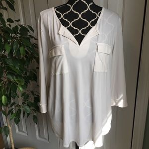 Ellen Tracey Company cream shirt